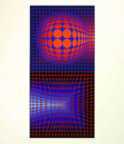 Victor Vasarely, Gordes Vega Pauk, 1971