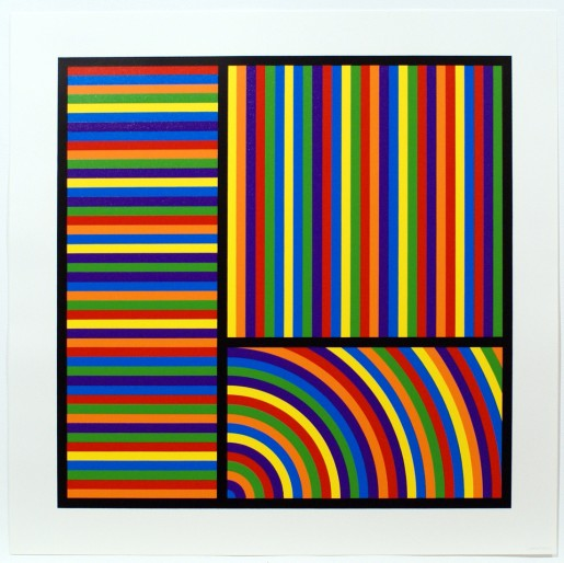 Sol LeWitt, Bands of Equal Width in Colour 4, 2000