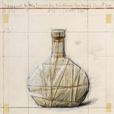Christo-Wrapped Bottle (Project for Kirchberg Spätlese)