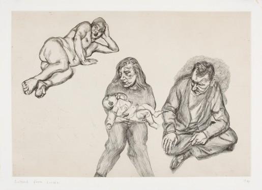 Lucian Freud, Four Figures, 1991