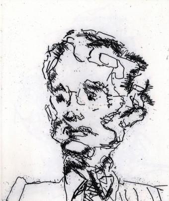 Geoffrey by Frank Auerbach