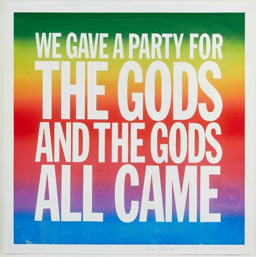 John Giorno, WE GAVE A PARTY FOR THE GODS AND THE GODS ALL CAME, 2017