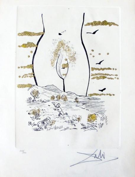 "Salvador Dalí, ""A l'Eternelle Madame"" from ""Les Amours Jaunes"", 1974"