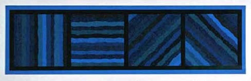 Sol LeWitt, Bands Not Straight in Four Directions (blue), 1999