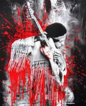 Jimi Hendrix (Red)