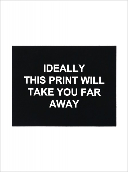 Laure Prouvost, Ideally this print will take you far away, 2016
