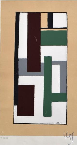 Fernand Léger, Geometric Composition, from: Album of Ten Serigraphs, 1924
