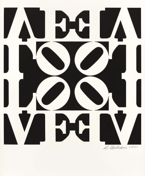 Robert Indiana, Love from Decade Portfolio, 1971