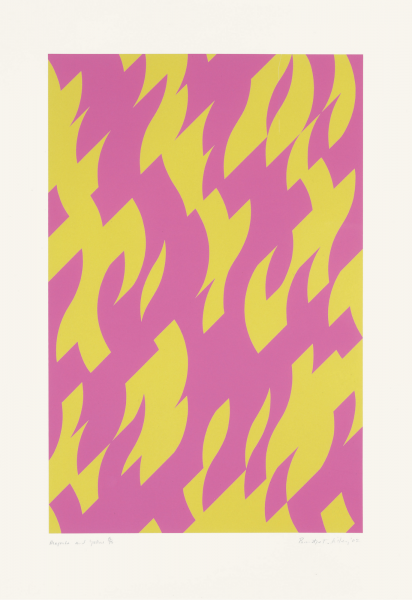 Bridget Riley, Magenta and Yellow, 2002