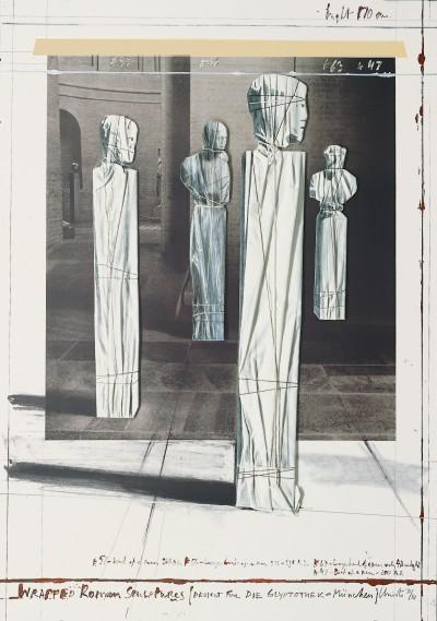 Christo-Wrapped Roman Sculptures