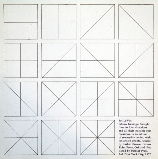 Sol LeWitt, Straight lines in four directions and all their possible combinations, 1973