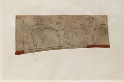 Ben Nicholson, long horizontal Patmos, 1962