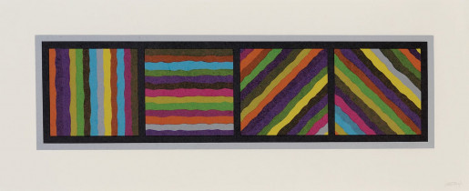 Sol LeWitt, Bands (not straight) in Four Directions, 1999