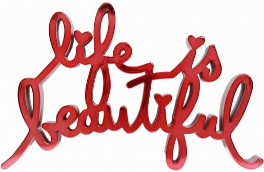 Mr. Brainwash, Life is Beautiful – Hard Candy Red, 2017