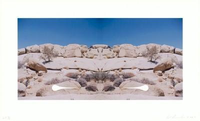 Ed Ruscha - Bow-Tie Teardrop (Bow-Tie Landscapes)