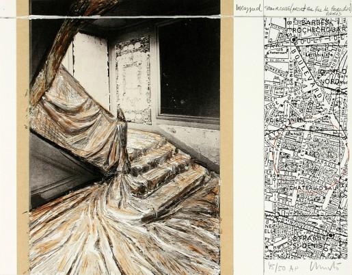Christo, Wrapped Staircase, 2001