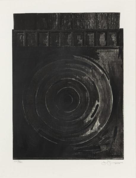 Jasper Johns, Target with Plaster Casts (Black & White), 1980-1989