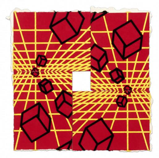 Mel Bochner, Untitled (Red, Yellow, Black), 1995