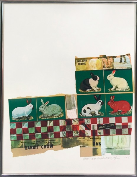 Robert Rauschenberg, Rabbit Chow, from Chow Bags, 1977
