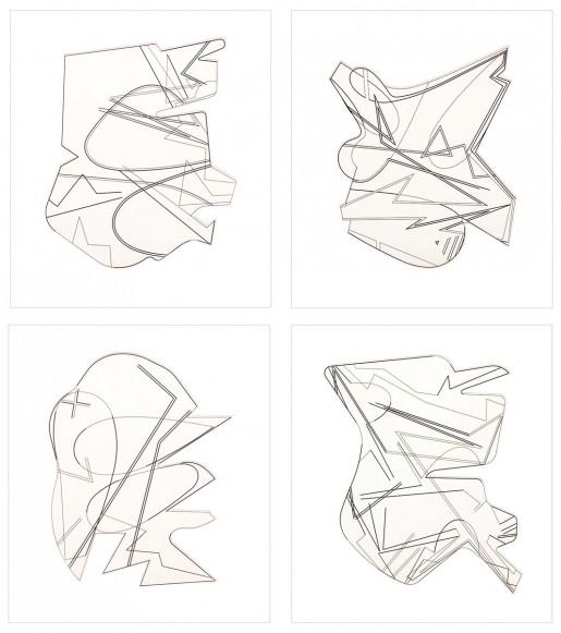 Michael Heizer, Hard Edge Etchings, 2016