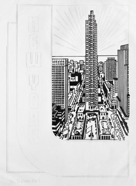 Joe Tilson, Study for Decal 3, 1967