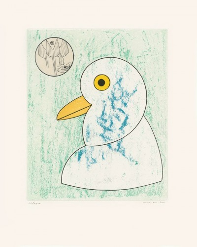 """Nous sommes la somme de nos envergures, from """"Oiseaux en péril"""" by Max Ernst"""
