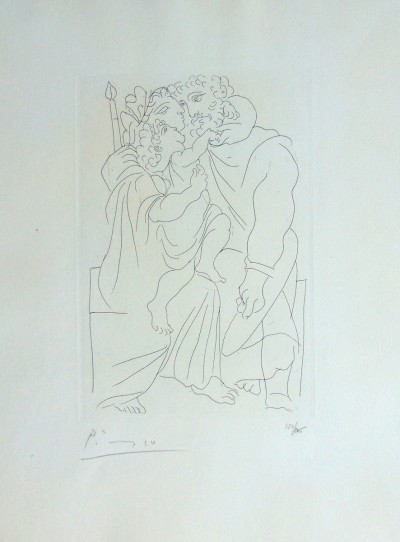 Pablo Picasso, Couple and Child, from: Lysistrata | Couple et Enfant, from: Lysistrata, 1934