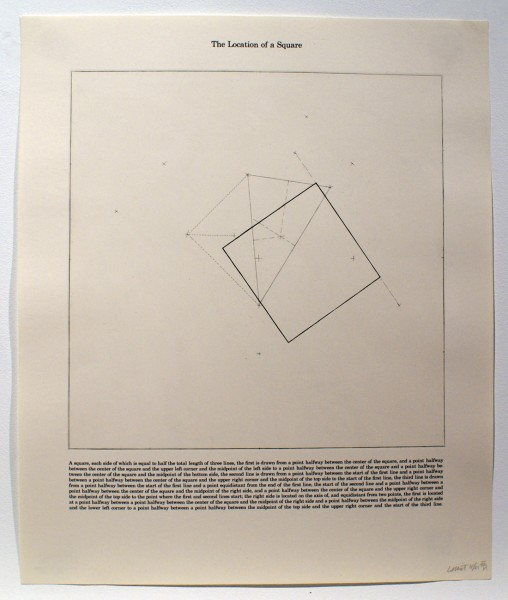 Sol LeWitt, The Location of a Square, 1975