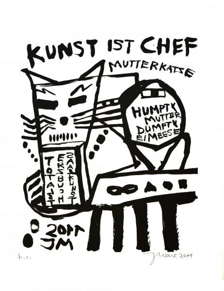 Jonathan Meese, Mutter der Diktatur der Kunst: Strammstehn' und Totalstgehorsam, 2011