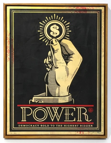 Shepard Fairey, Power Bidder, 2015