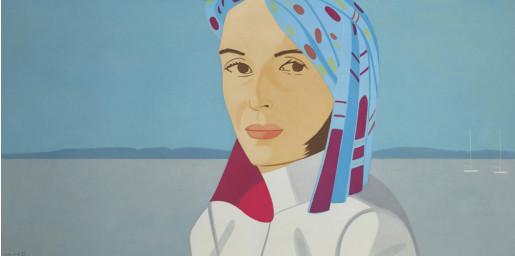 Alex Katz, Ada with Blue Hat, 2004