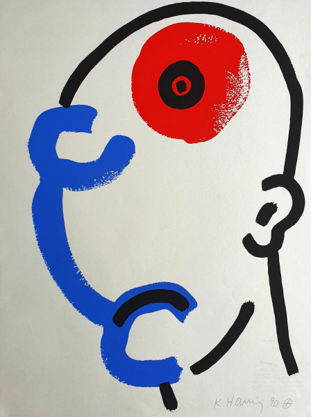 Keith Haring, The Story of Red and Blue #13, 1989