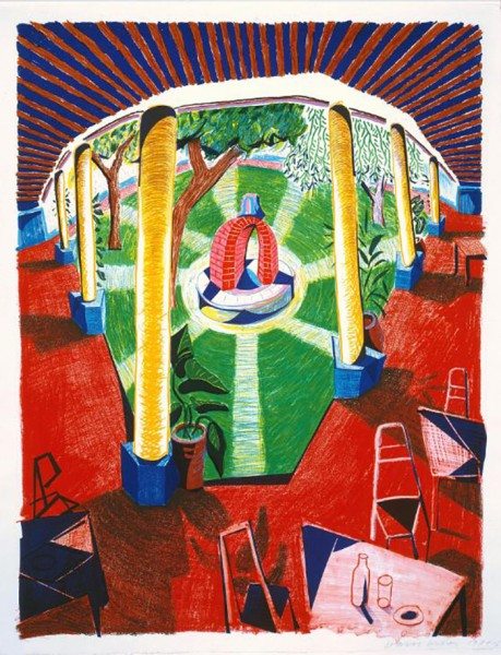 David Hockney, Views of Hotel Well III, 1985