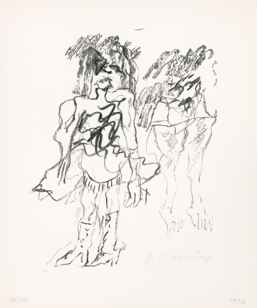 Willem de Kooning, Two Women, 1973
