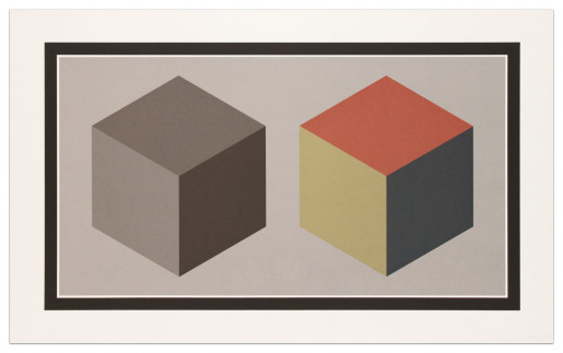 Sol LeWitt, Double Cubes in Grays and Colors Superimposed, 1989