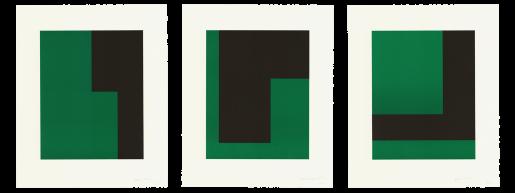 Carmen Herrera, Verde y Negro, 2017