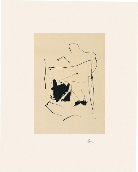 Robert Motherwell, Octavio Paz Suite: Burnt Water, 1988