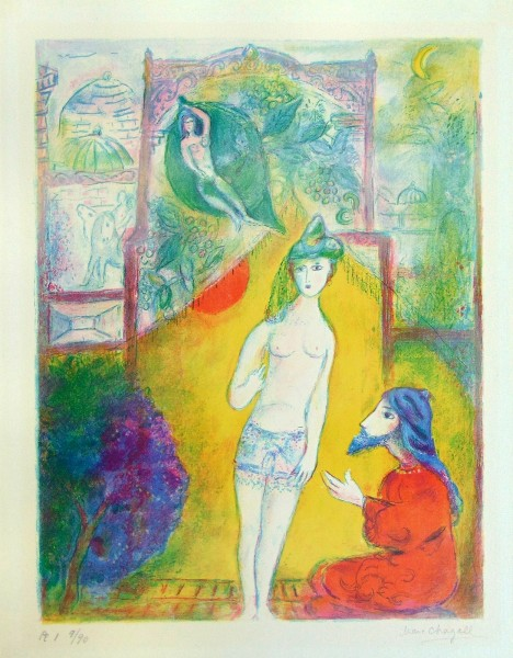 "Marc Chagall, Then the Boy Displayed to the Dervish his Bosom..., ""from Four Tales from the Arabian Nights"", 1948"