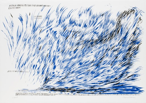 Raymond Pettibon, Untitled (A Sea of Grinding Tectonic Plates...), 2008