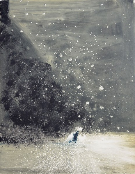 Bill Jacklin, Snow in the Park at Night I, 2018