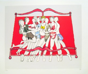 Eight in Bed by Louise Bourgeois