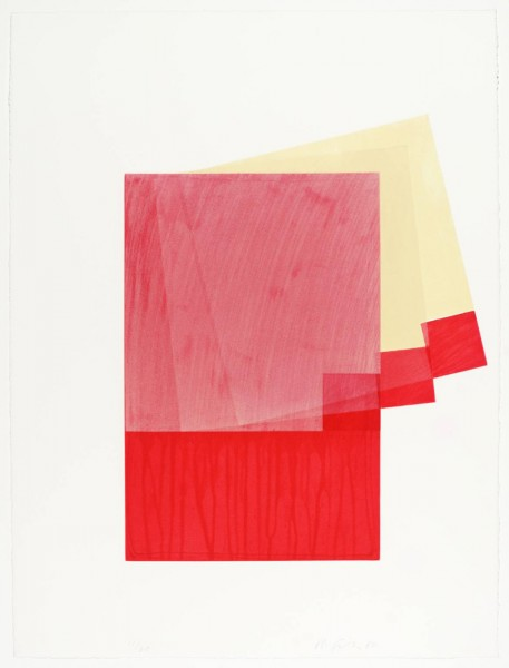Richard Smith, Drawing Boards I: red / yellow, 1980