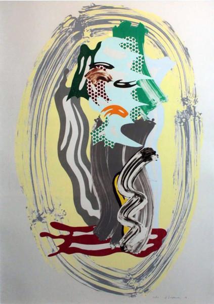 "Roy Lichtenstein, Green Face, from ""Brushstroke Figures"", 1989"