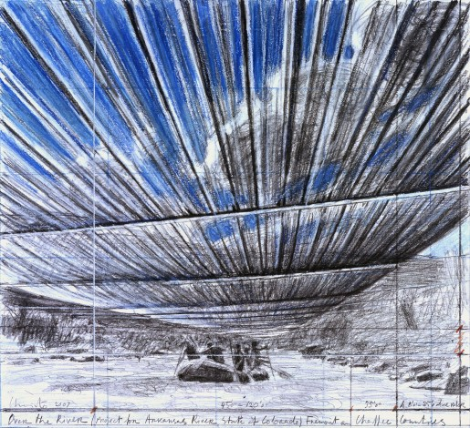 Christo, Over The River B, 2007