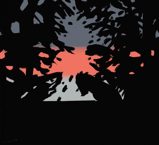 Alex Katz, Sunset 2, from Sunrise Sunset Portfolio, 2020