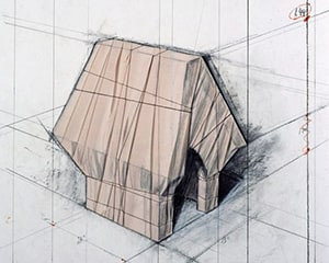 Wrapped Snoopy House by Christo