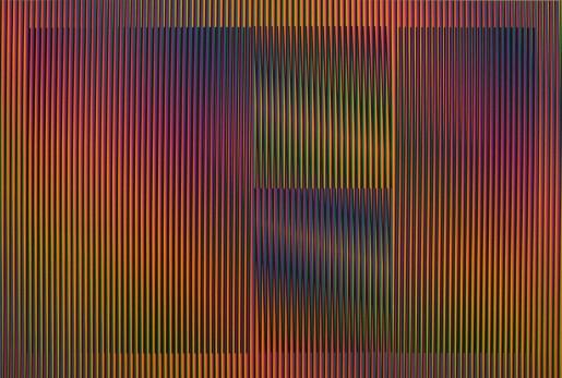 Carlos Cruz-Diez, Color Aditivo Cantarrana 2, 2016