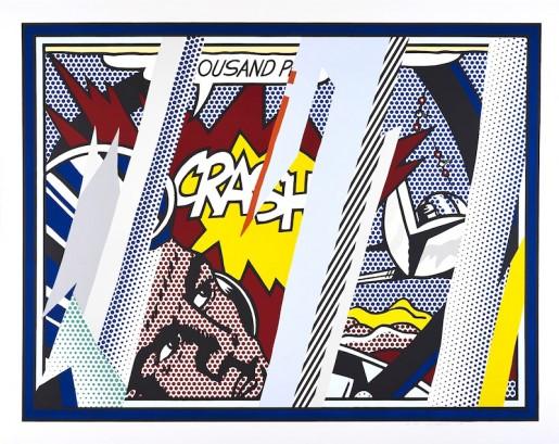 Roy Lichtenstein, Reflections On Crash, 1990