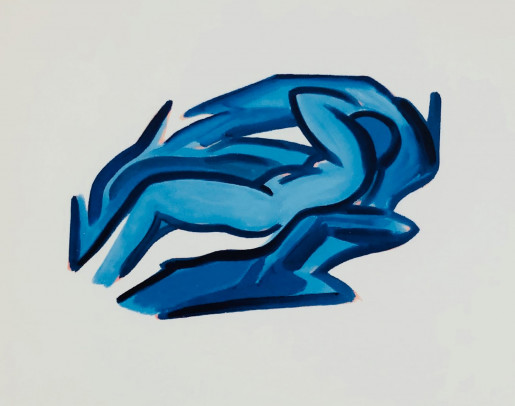 Tom Wesselmann, Blue Nude #4, 2001
