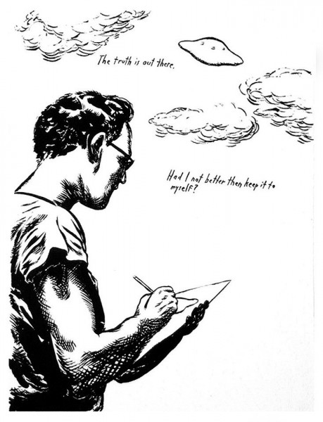 Raymond Pettibon, The Truth, 2000